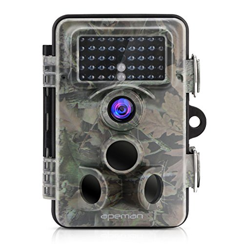 APEMAN Trail Camera 12MP 1080P HD Game camera with 130Wide Angle Lens 120 Detection 42 PCs 940nm Updated IR LEDs Night Version up to 20M65FT IP66 Spray Water Protected Design