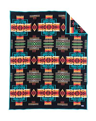 Pendleton Chief Joseph Wool Blanket, Black, Twin Size ()