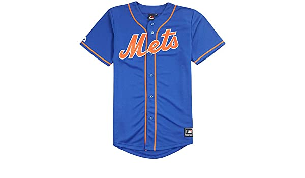Majestic - Camiseta de Béisbol MLB Retro York Mets Azul Replica, Medium: Amazon.es: Deportes y aire libre
