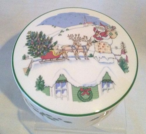 Nikko Christmas Bon Bon Dish, Nikko Holiday Candy Dish 5
