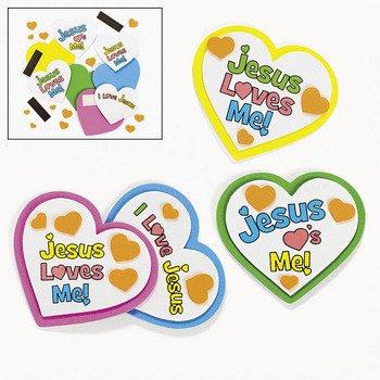 Jesus Loves Me Heart Magnet Craft Kit - Sunday School & Crafts for Kids