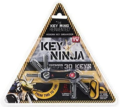 DUAL LED LIGHTS BUILT IN BOTTLE OPENER NEW KEY NINJA ORGANIZE UP TO 30 KEYS