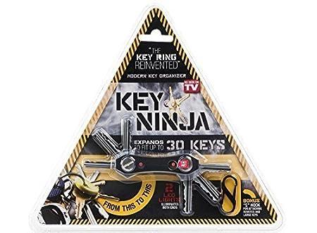 Ducomy Llave Ninja - organizar hasta 30 Llaves, Doble Luces LED, con abrebotellas