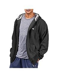 Champion Big Tall Men`s Zip Fleece Hoodie, CH105, 3XLT, Black