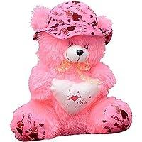 EMUTZ Garg Teddy Bear with Cap-40 Cm (Pink)