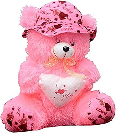 69e2e6c6624 Buy EMUTZ Garg Teddy Bear with Cap-40 Cm (Pink) Online at Low Prices in  India - Amazon.in