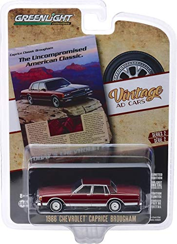 Greenlight 39030-F Vintage Ad Cars Series 2-1986 Chevrolet Caprice Brougham