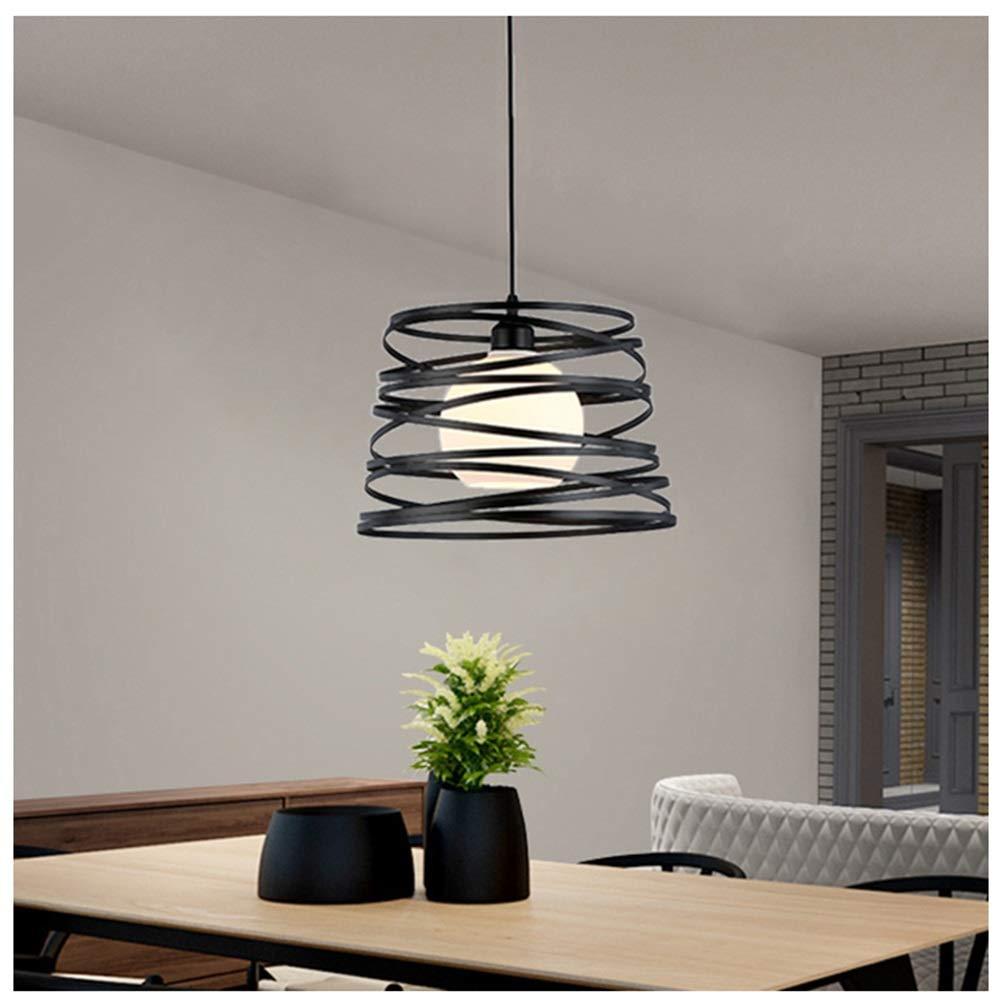 YJJL クリエイティブペンダントライトledレストラン天井照明現代のシンプルなシャンデリア用リビングルーム寝室バーカフェ - ブラック   B07TQSVPXQ