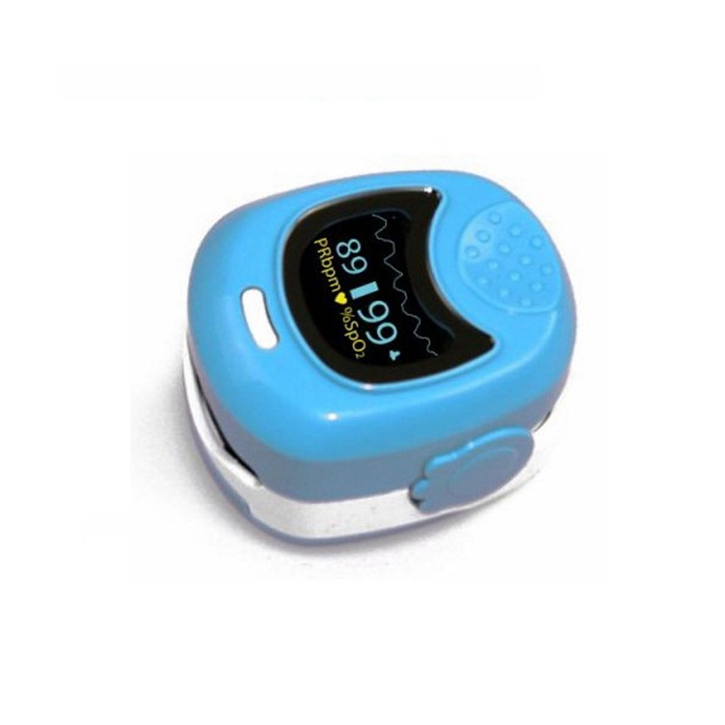 Child Use Heart Rate Monitor with Alarm Pulse Fuction Rechargeable, Blue for Oximeter After Sport Use Only