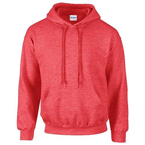Gildan - Heavy Blend Hooded Sweatshirt - 18500 - M - Heather Sport Scarlet ()