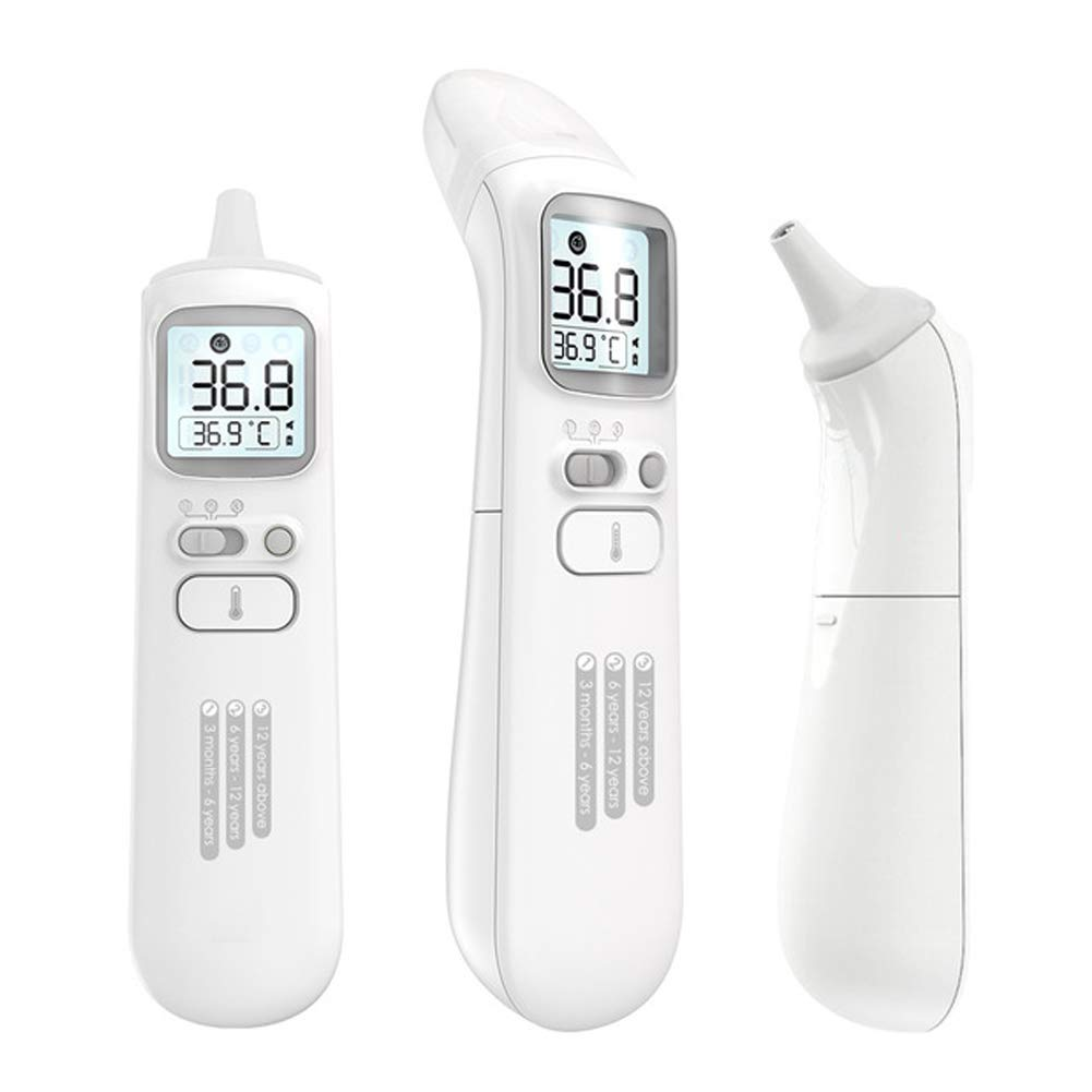 Baby Ear and Forehead Thermometer, Digital Medical Infrared Thermometer with Fever Alarm, Fahrenheit and Celsius Temperature Converter for Children and Adults by ACC