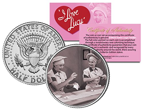 I LOVE LUCY The Chocolate Scene LUCILLE BALL JFK Kennedy Half Dollar US Coin - Licensed