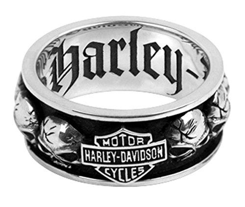 Harley-Davidson .925 Silver Spinning Skull Mens Ring (15) ()