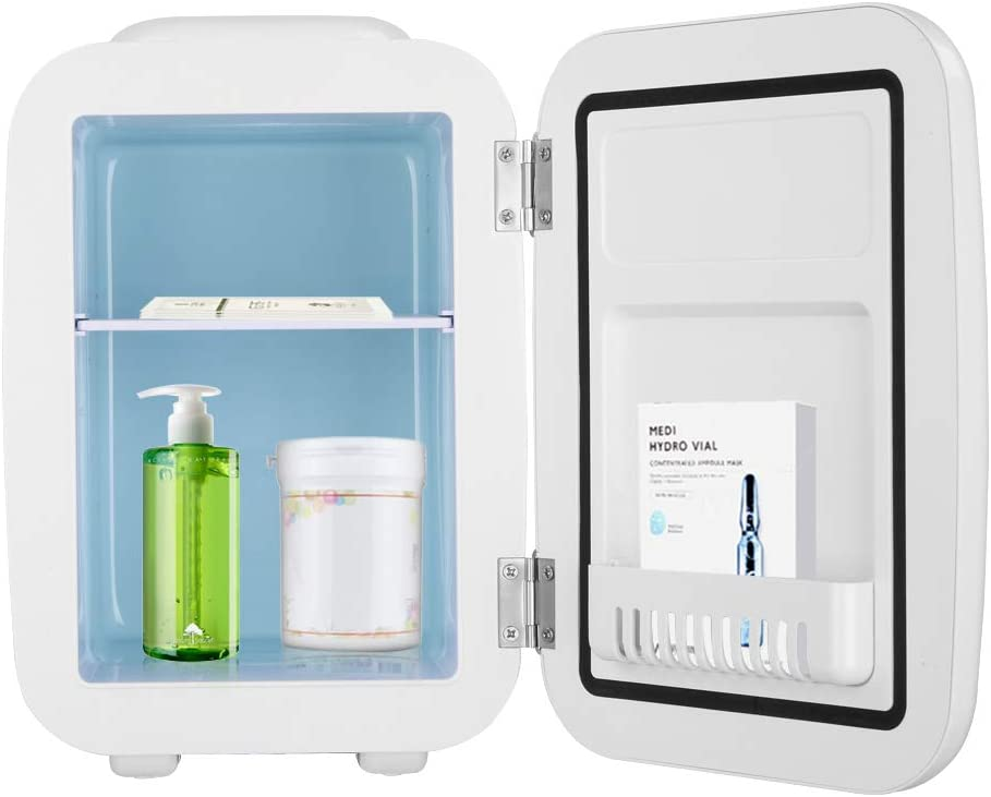 ZOKOP Mini Fridge 5 Liter/6 Can AC/DC Portable Thermoelectric Cooler and Warmer for Skincare, Foods, Medications, Home and Travel, (White)