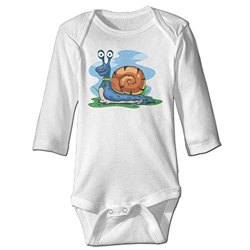 [Raymond Snail Cartoon Long Sleeve Baby Climbing Clothes White 6 M] (Brad Pitt Costume Ideas)