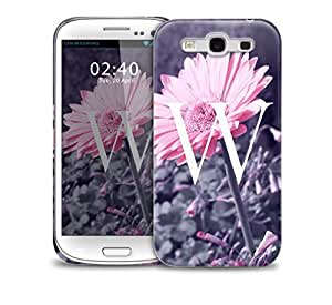 letter w Samsung Galaxy S3 GS3 protective phone case