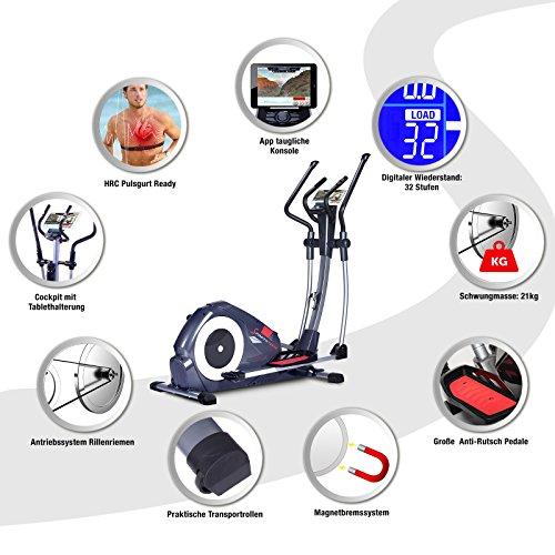 Sportstech CX620 Profi Crosstrainer mit Smartphone App - 7
