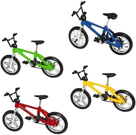 CLKJYF Mini Bike Finger 4 Pack Miniature Metal Finger Mountain Bike Toy Finger Bicycle Mountain Bike Cool Boy Toy Creative Game Toy Set