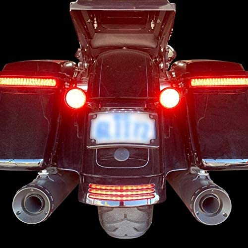 RED LENS 2014-2020 Streetglide /& Roadglide Custom Dynamics ProBEAM Dual Intesity LED TriBar Fender tip Light
