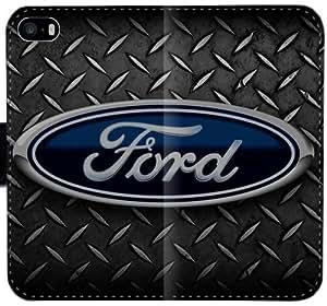 Logotipo de Ford caja de la carpeta 6 6S 4,7 de cuero del Funda iPhone M2F5O funda T7Gph4 tirón de la caja Funda teléfono