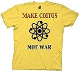 Ripple Junction Big Bang Theory Make Coitus Not War Adult T-Shirt 3XL Medium Yellow