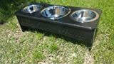 3 bowl dog feeder 12 in. tall For Sale