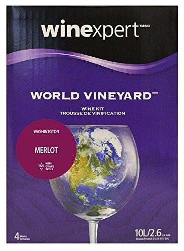(Winexpert World Vineyard Washington Merlot Wine Kit with Grape)