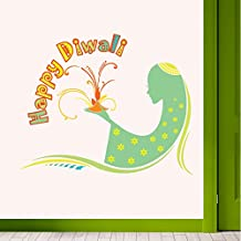 DreamKraft Happy diwali Wall Sticker 35X28 Inch
