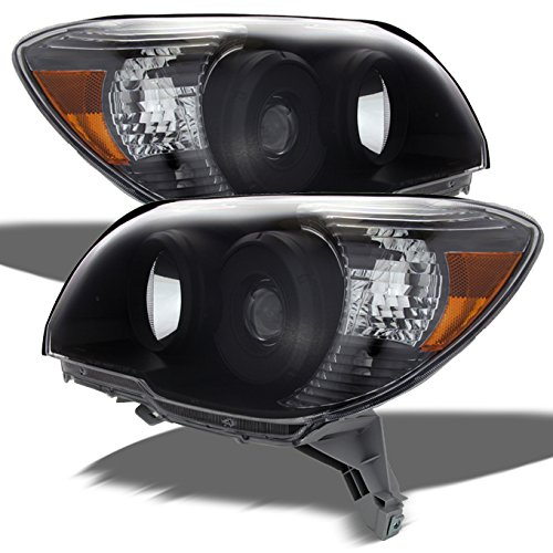For 2006-2009 Toyota 4Runner Sport SUV Amber Black OE Replacement Headlights Driver/Passenger Head Lamps -