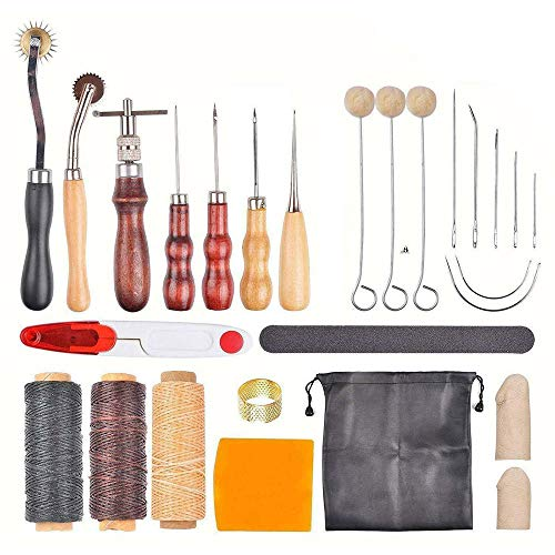 Leather Sewing Tools Leather Working Tools Kit Set Hand Sewing Craft Supplies Stitching