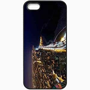 Protective Case Back Cover For iPhone 5 5S Case Chicago Illinois USA Lake Shore Drive Chicago Illinois Black