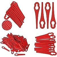 FOUTP Lote de 150 cuchillas de plástico de repuesto para corte de borde Florabest LIDL, hojas de corte de plástico de…