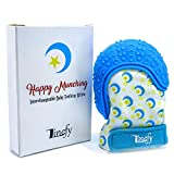 Linefy Teething Mitten Self-Soothing Pain Relief, Silicone Baby Teething Mittens for Babies 2-12 Months, Stimulating Teether Toy, Teething Glove, 100% BPA Free Safe Food Grade Baby Teething Mitt