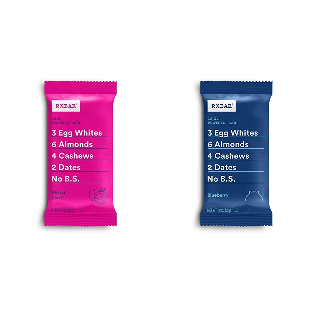 RXBAR, Mixed Berry, Protein Bar, High Protein Snack with Blueberry, Protein Bar, 1.83 Ounce (Pack of 12) Breakfast Bar, High Protein Snack