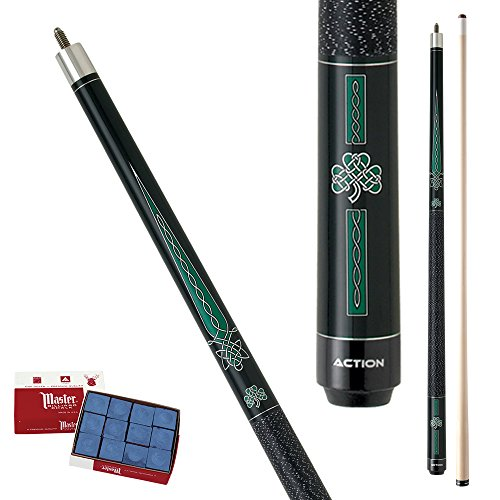 Action Impact IMP20 Celtic Pool Cue Stick with 12 pieces of Master Billiard Chalk (21)