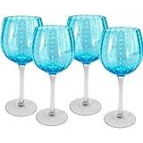Artland Cambria Goblet 18 oz (Set of 4), Turquoise