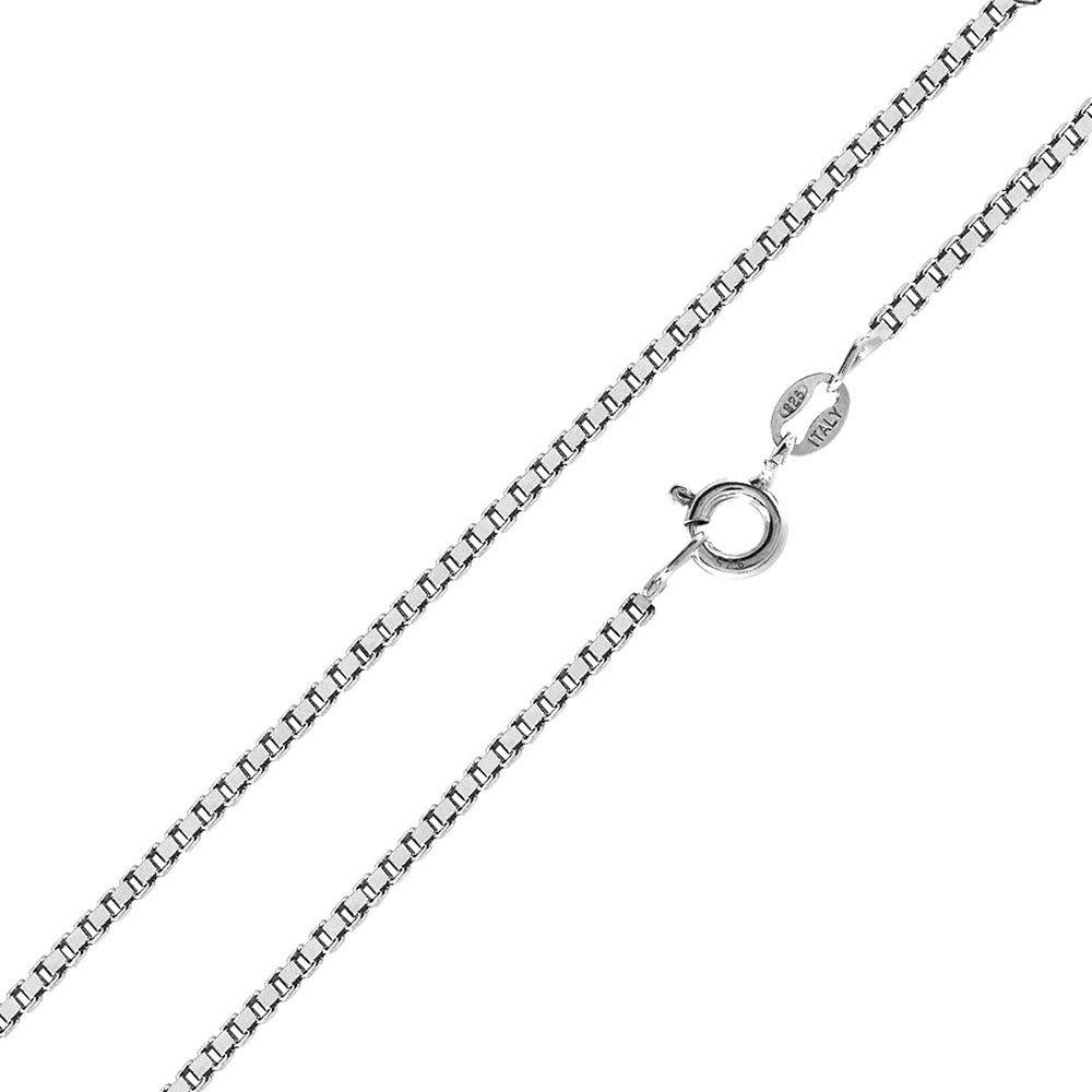 CloseoutWarehouse High Polished Sterling Silver Box 024 Chain 1.3mm