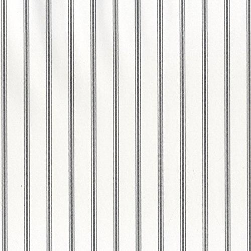Norwall SY33934 Ticking Stripe Prepasted Wallpaper, Black, Ebony
