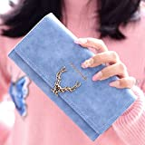 Women's Long Wallet Clutch Purse Hand Purse for Women's Girls Ladies Long Wallet Purse Clutch Hand Purse For Womens Wallet (Ocean Blue)
