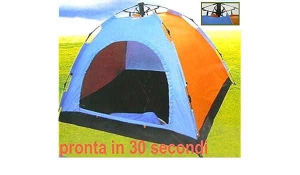 Cortina automática montaje inmediato modelo estilo Igloo canadiense MIS. CM.200 (aproximadamente 3 x 150 plazas) Ideal x improvisados acampada, Spiagge, Spratici-montaje en 30 segundos con el sistema tienda (prOdigitaL Boraccia regalo): Amazon.es: