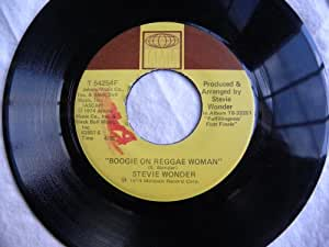 "Boogie On Reggae Woman / Seems So Long 7"" 45 - Tamla - T 54254F"