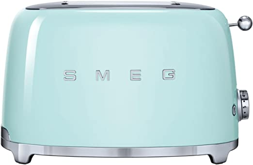 Amazon.com: Smeg 2-Slice Toaster, verde pastel: Kitchen & Dining