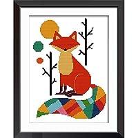 Joy Sunday Cross Stitch Kits Easy Patterns Embroidery for Girls Crafts DMC Cross-Stitch Supplies Needlework Scenery Series