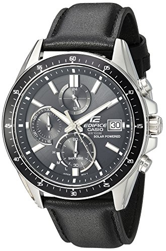 Casio Men's Edifice Stainless Steel Quartz Watch with Resin Strap, Black, 21.35 (Model: EFS-S510L-1AVUEF)