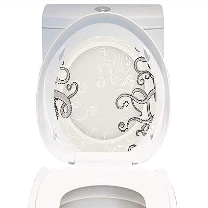 Fantastic Amazon Com Qianhe Home Toilet Seat Decal Kraken Decor Fish Pdpeps Interior Chair Design Pdpepsorg