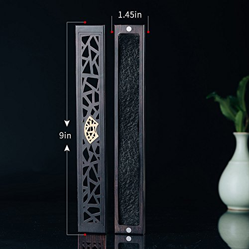 ShanBenTang Incense Burner, Ebony Incense Sticks Holder Box, Antique Style Ash Catcher