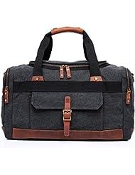 YuHan Canvas Travel Duffel Bag Shoulder Bag Weekend Overnight Holdall Bag