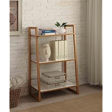 Convenience Concepts Oslo Sundance 3-Tier Shelf, White/Bamboo