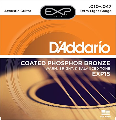 D'Addario EXP15x3 (3 sets), EXP Coated Phos/Brnz, Ex Light, (Exp Phos)