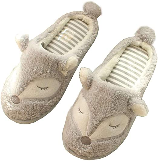 Girls Kids Cute Sleeping Sheep Ballet Slippers Sizes 9-3 Faux Sheepskin Lining